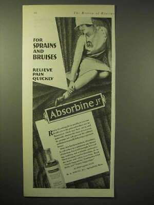 1929 Absorbine Jr. Ointment Ad - For Sprains, Bruises