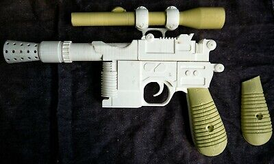 Star Wars Han Solo Blaster DL-44 3D Printed Model Cosplay Prop Toy kit