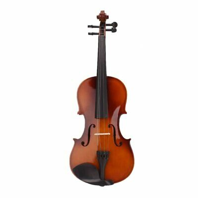Fiddle With Case Bow Rosin Natural Acoustic Violin Instrument 4/4 Full Size New