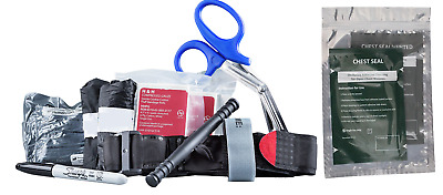 Stop the Bleed Individual Advanced Kit Emergency Trauma New With Chest Seals x 2