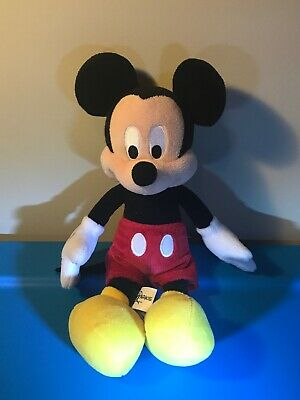 "Disney Parks Mickey Mouse 12"" Plush Stuffed Doll"