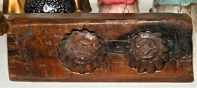 Antique WOODEN Maple Sugar Candy MOLD Beautiful Patina~Hand Carved~W/ Design
