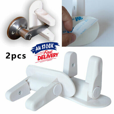 2pcs Handles And Adhesive Door Lever Lock Proof Doors Safety Tools Child