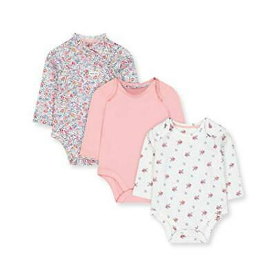 (TG. Tiny Baby (Manufacturer Size:50)) Mothercare NB PF 3pk LS Bodysuits Body, N