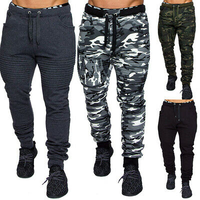 Camouflage Striped Jogging Pants Men's Sport Leggings Fitness Running Trousers