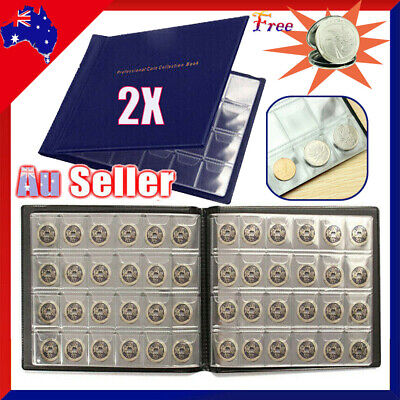 2X 240 Slots Coin Penny Money Storage Album Book Folder Holder Collecting Files