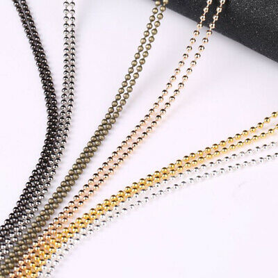 10M/Set 1.5mm Metal Round Beads Chains Jewelry Finding DIY Making Necklace Cr FR