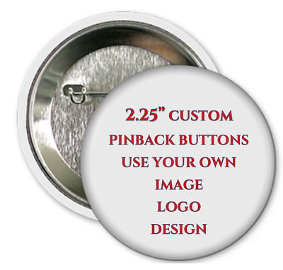 "100pcs Personalized 2.25/"" Pinback Buttons"