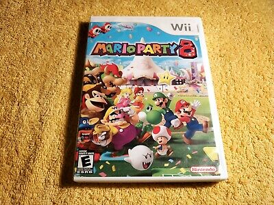 Mario Party 8 (Nintendo Wii, 2007)COMPLETE With Manual