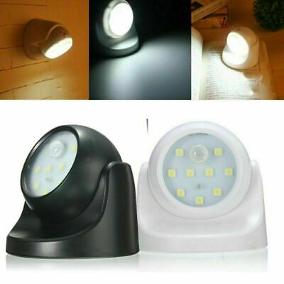 360° Battery Power Motion Sensor Security LED Light Garden Outdoor Indoor C3K5F