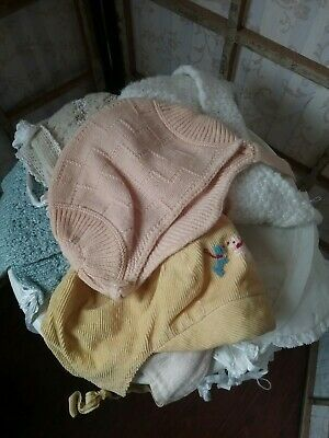Vintage 1940 Baby Infant Cap Lot