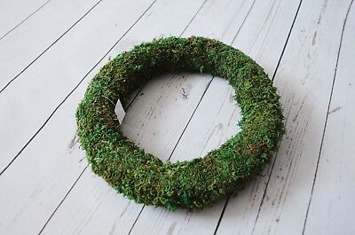 "Green Padded Moss Effect Wreath Ring - choose 8"" 10"" 12"""