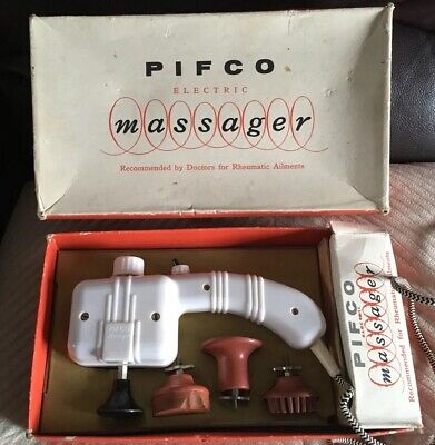 PIFCO VIBRATORY MASSAGER 1960'S WORKING Boxed Good Condition Harrods Price Label