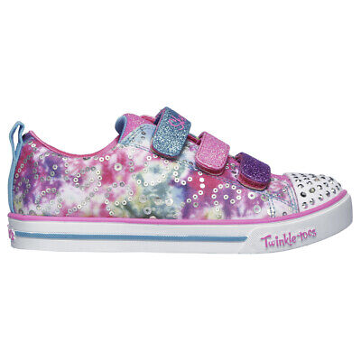 Kids Girls Skechers Sparkle Lite Rainbow Brights Twinkle Toes Shoes All Sizes
