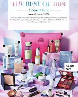 Cult Beauty The Best Of 2019 Goody Bag Worth Net £325 - Without £15 Gift Card!