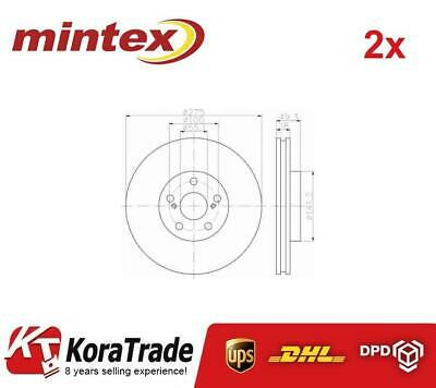 2x MINTEX MDC1584 FRONT OE QUALITY BRAKE DISC SET