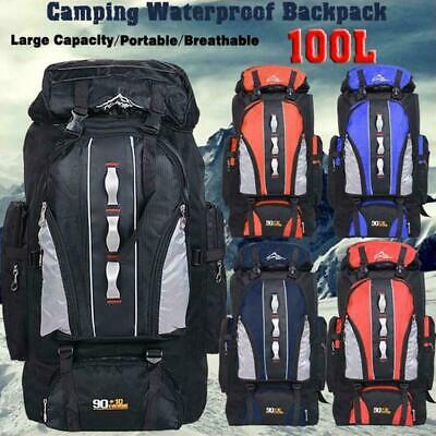 Outdoor Backpack Travel Camping Bag Sport Rucksack Trekking Waterproof Shou V2T6