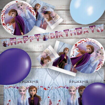 Disney Frozen 2 Olaf Elsa Anna Party Tableware, Decorations and Balloons