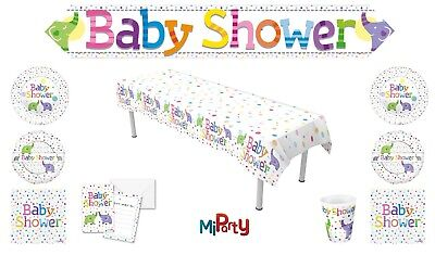 Baby Shower Elephant Plates Cups Napkins Banners Tablecloth Invite Foil Balloons