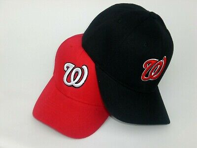 Washington Nationals Baseball Cap Hat One Size Black Red  New! Pick Your Style!