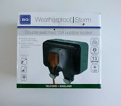 BG Double Twin Weather Proof Outdoor Sockets