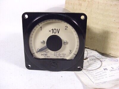 Vintage USSR Analog Voltmeter M760. measurement range 0-30V