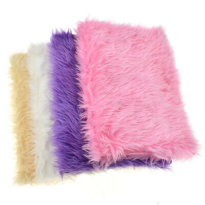 42x30cm Faux Fox Fur Fabric Plush Soft Sheet DIY Clothing Sewing Apparel Crafts