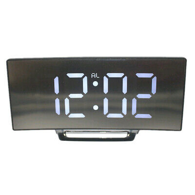 Alarm Clock Digital LED Display Battery Operated Mirror Night Light-01