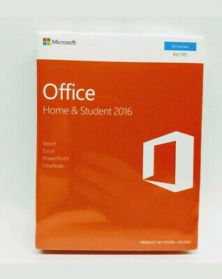 Microsoft Office Home And Student 2016 Windows English Pc Key Card 79G-04597