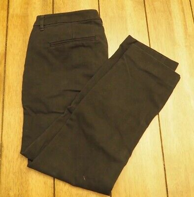 Old Navy Harper Mid-Rise Black Dress Pants Stretch Womens Size 4 Ankle Cropped