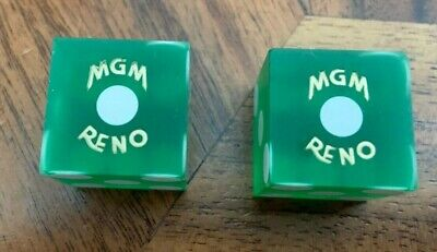 MGM RENO NEVADA NV Casino Dice Green Not Canceled No Numbers Closed 1986