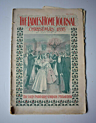 Antique Christmas 1895 Copy Of The Ladies Home Journal