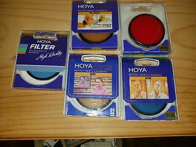 Lot Of 5 Hoya 52mm Camera Filters In Very Good Condition