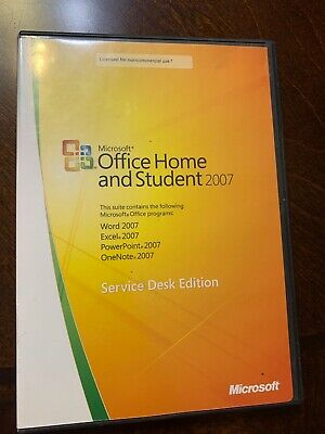 Office Home And Student 2007 Service Deck Edition Has Serial Key Original