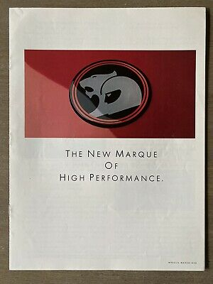 1988 HSV New Marque Of High Performance original Australian sales brochure