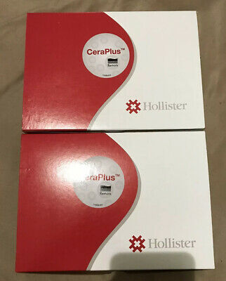 2-Boxes of Hollister CeraPlus Drainable Pouch #8901 Ileostomy/ Colostomy 20ct.