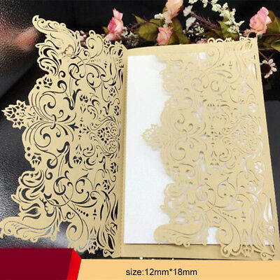 50pcs Golden Bulk Wedding Invitations Birthday Party