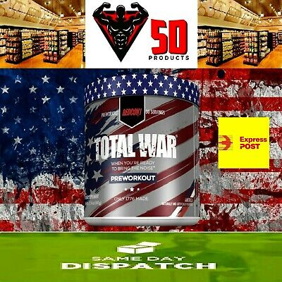 REDCON1 Total War Pre Workout, Extreme Energy, Laser-Like Focus   ALL FLAVOURS  