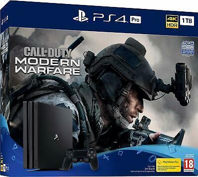 Sony PS4 Pro 1TB & Call of Duty Modern Warfare 2019 4K HDR Brand New & Sealed