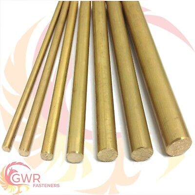 200mm Long Brass Round Bar Rod CZ121 - 4mm to 30mm
