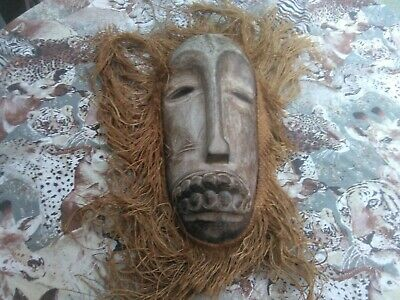 png mask  wooden carved original collectable