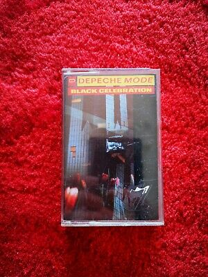 "Depeche Mode "" Black Celebration "" Cassette Album Paper Label 1986 Mute + Inlay"