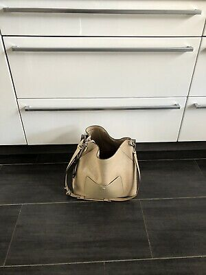 Top! Exkls. MCM Tasche Klara Monogrammed Leather Hobo Beige