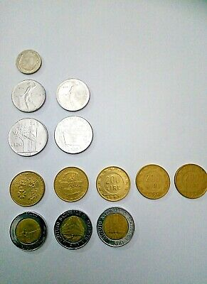 Collectibles Italian coins from 1969 to 1996, 13 coins