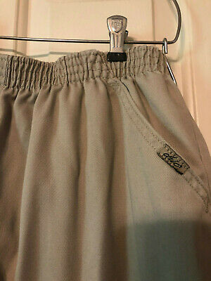 Chic Classic Collection Women's Elastic Waist Pull-on Pant Khaki size 16 A