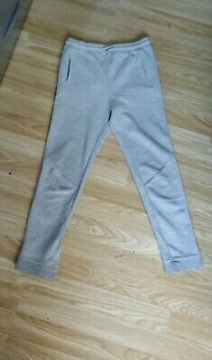 Boy's Grey River Island Slim Jogging Bottoms Age 9-10 Years
