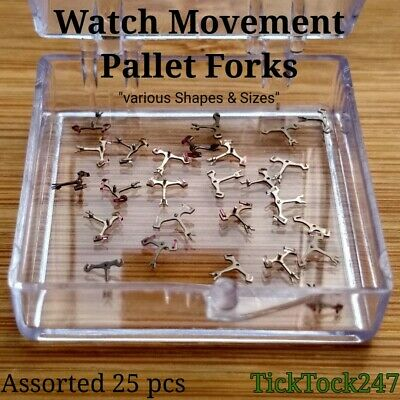 X 25 Assorted Pallets For Mechanical / Automatic Watches, Watchmakers, Repair.