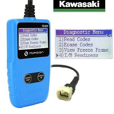 Kawasaki Zzr1400 2016-Current Motorcycle 6 Pin Diagnostic Tool, Obd  Fi Scanner