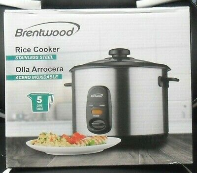 Brentwood Rice Cooker Stainless Steel ( Black )