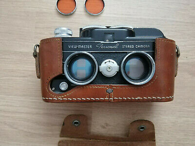 Viewmaster Personal Stereo Camera 3D Stereoskopic Kamera + Filter + Case